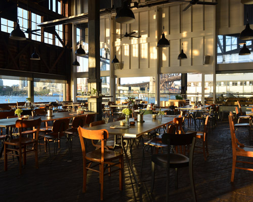 Natural light floods the restaurant's space