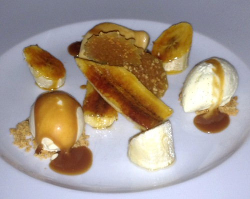 Deconstructed banoffee pie