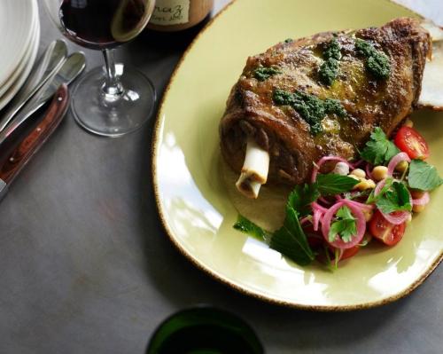 Wood roasted Moran family lamb