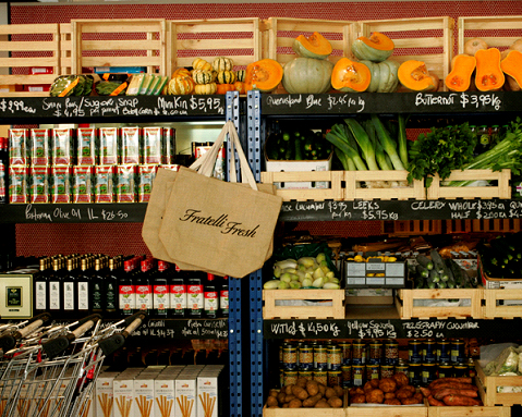 Wander the aisles of Fratelli Fresh for some gourmet food shopping therapy