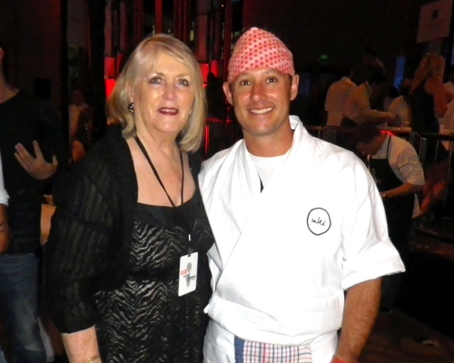Maureen with Sake chef Shaun Presland