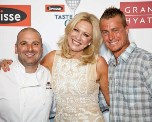 George Calombaris, Kerri Anne Kennerley and Lleyton Hewitt