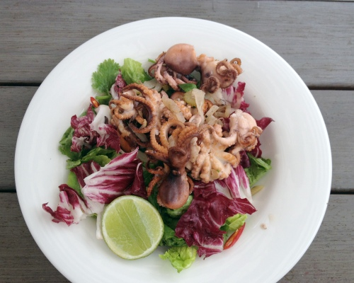 Chilli and lime octopus salad