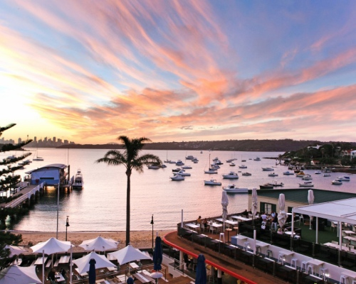 The view from Watsons Bay Beach Club